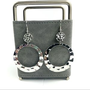 Ava & Aiden NEW Silver Hammered Earrings